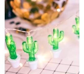 """LED гирлянда """"Кактус в горшке"""" 10 ламп 1,5 м, usb 8 режимов"""