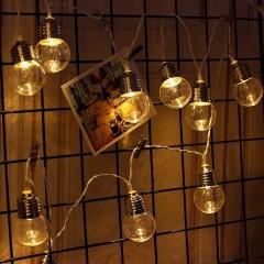 """Led гирлянда """"Лампочки прозрачные"""" 35 ламп, 5 м"""