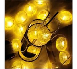 "LED гирлянда ""Дольки лимона"" 35 ламп 5 м, usb"