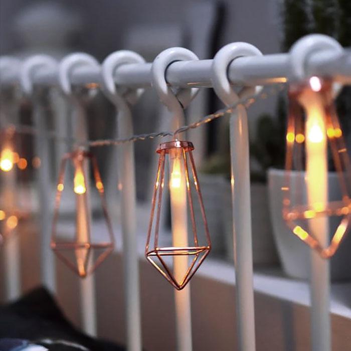 """LED гирлянда """"Скандинавская"""" 10 ламп 1,5 м, usb 8 режимов"""