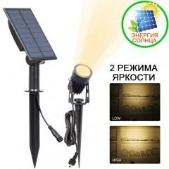 Сплит-прожектор на солнечной батарее 2W, теплый белый