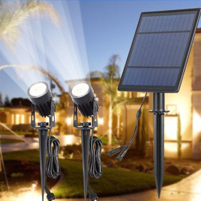 2 cплит-прожектора на солнечной батарее 6W,  белый