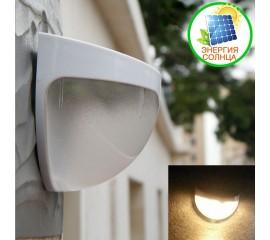 Настенный фонарик 6LED, на солнечной батарее, теплый белый