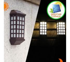 Настенный фонарь на солнечной батарее