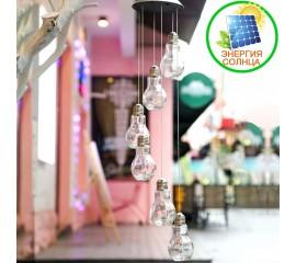 """Светодиодный декор """"Стекляные лампочки"""" 30LED, на солнечной батарее"""