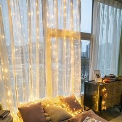 Светодиодная штора 2 х 2 м, 224 led, теплый белый, от сети