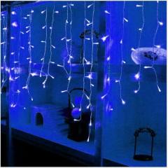 Гирлянда - дождик 3,5 x 0,6 м, 96 led, синий