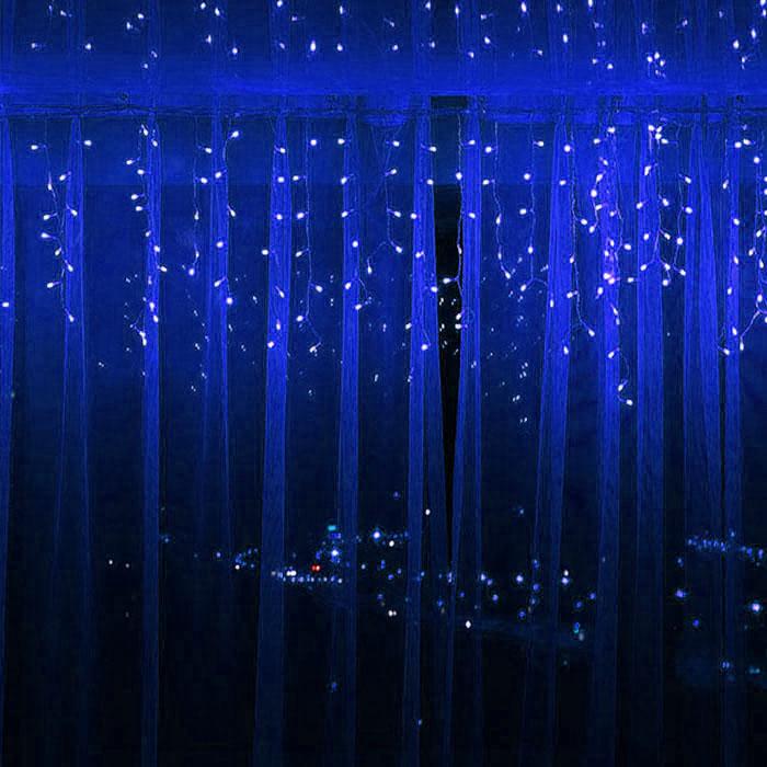 """Гирлянда """"Дождик"""" 3,7 x 0,6 м, 96 led, синий"""