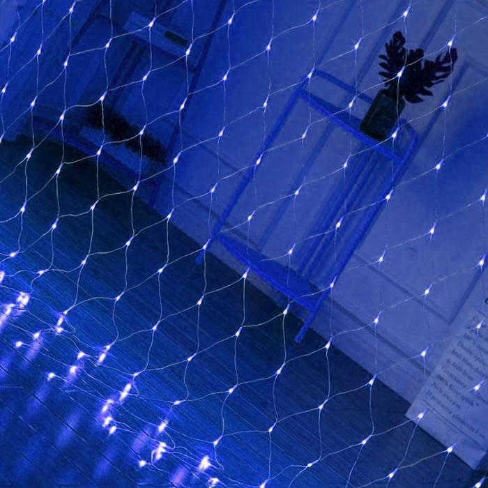 """Гирлянда """"Сетка"""", 2 х 2 м, синяя"""