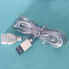 Прозорий подовжувач USB, для світлодіодних гірлянд - 3 м