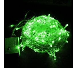 Гирлянда стринг 100 led, 10 м., 8 режимов, зеленая