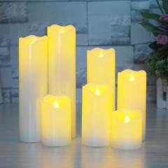 Восковая LED свеча - 20 см