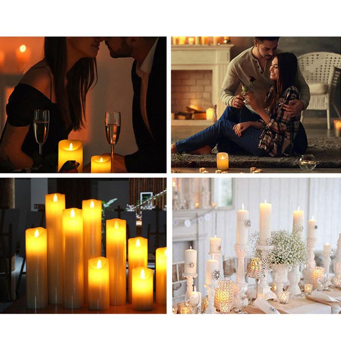 Восковая LED свеча - 16 см