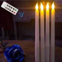 Светодиодные свечи с пультом ДУ, 27 см - 2 шт.