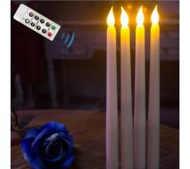Светодиодная свеча с пультом ДУ, 27 см - 1 шт.