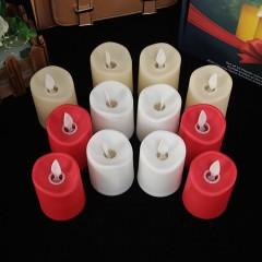 Светодиодная свеча, реалистический эффект огонька, кремовая 7,5 см