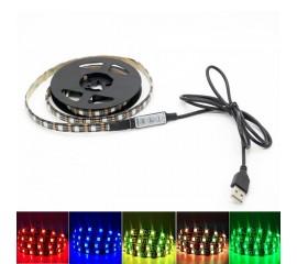 Светодиодная подсветка RGB (17 цветов) для ТВ, полок, ниш, 2 м,  120led,  USB