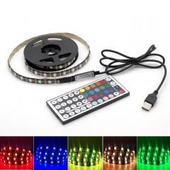 Светодиодная подсветка RGB для ТВ, полок, ниш. 3м, 180led, пульт ДУ-44 кнопки, USB