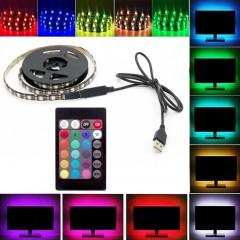 Светодиодная подсветка RGB для ТВ, полок, ниш. 1 м, пульт ДУ, USB