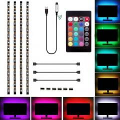 Светодиодная подсветка RGB для ТВ, полок, ниш. 4 х 0,5м, пульт ДУ, USB