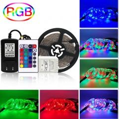 Светодиодная подсветка RGB 5м, 300led, пульт ДУ-24 кнопки
