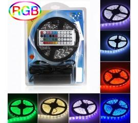 Светодиодная подсветка RGB 5м, 300led, пульт ДУ-44 кнопки
