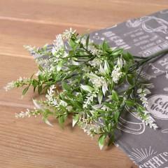 Букет лаванда с листиками - белая