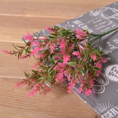 Букет лаванда с листиками - розовая