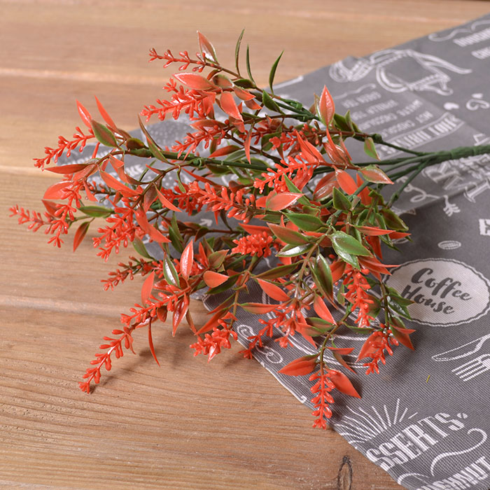 Букет лаванда с листиками - красная