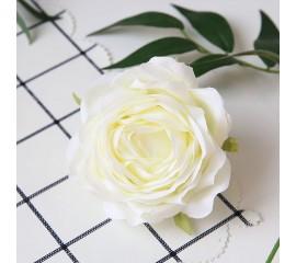 """Головка розы """"Премиум"""" белая"""