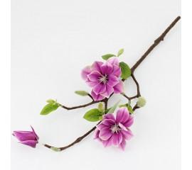 Ветка магнолия 50 см - розовая