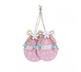 """Набор пасхальных подвесок """"Яйца розовые"""" 8,5 см"""