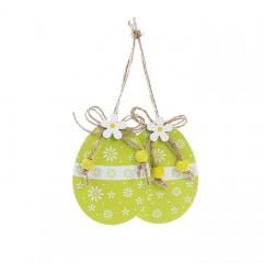 """Набор пасхальных подвесок """"Яйца зеленые"""" 8,5 см"""