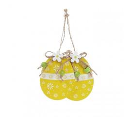 """Набор пасхальных подвесок """"Яйца желтые"""" 8,5 см"""