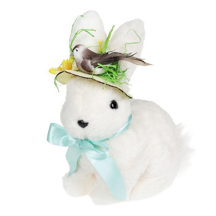 """Пасхальная фигрука """"Кролик в шляпке"""" 24 см"""