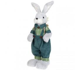 Пасхальный зайчик в зеленом костюмчике 59 см