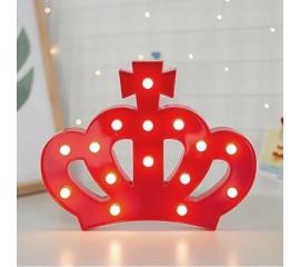 """Светодиодный ночник """"Корона"""" красная 24 см"""