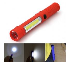 Фонарик с боковым светом f-007, красный