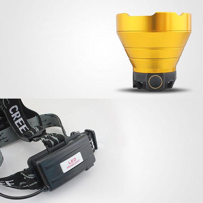 Аккумуляторный налобный фонарь f-052, прямая зарядка USB, 3 режима