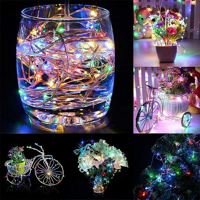 LED нить - 10 м 100 ламп, цветная, USB