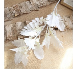 """Ветка """"Персидский лист"""" белая 80 см"""