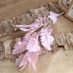 """Ветка """"Персидский лист"""" розовая 80 см"""