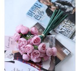 Букет розочки махровые - розовые