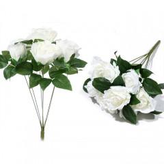Букет роза бутон - белая