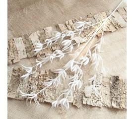 Ветка с белыми листиками 88 см