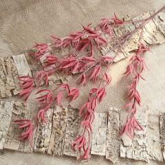 Ветка с красными листиками 88 см