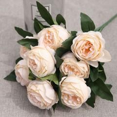 Букет роза пионовидная кремовая