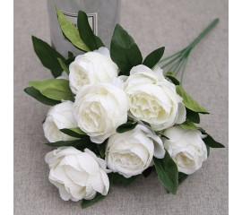 Букет роза пионовидная белая