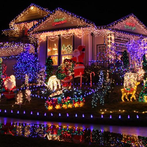 Светодиодная иллюминация фасада дома