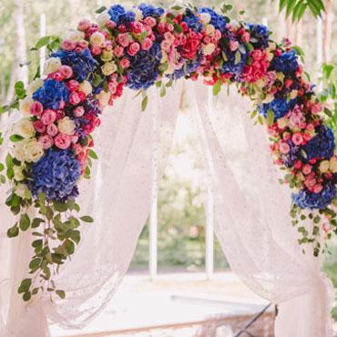 Искусственные цветы для свадебной арки